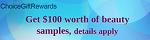 ChoiceSurveyGroup - $100 Beauty Samples, FlexOffers.com, affiliate, marketing, sales, promotional, discount, savings, deals, banner, bargain, blog