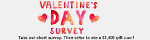 SurveysforFun - $1,500 VDay Sweepstakes, FlexOffers.com, affiliate, marketing, sales, promotional, discount, savings, deals, banner, bargain, blog