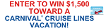 CE - $1,500 Carnival Cruise Sweeps, FlexOffers.com, affiliate, marketing, sales, promotional, discount, savings, deals, banner, bargain, blog