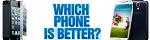 HotGiftsNow - Galaxy S4 vs iPhone 5, FlexOffers.com, affiliate, marketing, sales, promotional, discount, savings, deals, bargain, banner, blog