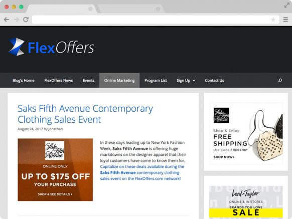 FlexOffers Solo Blog Entry