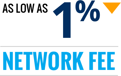 Advertiser - Network Fee as low as 1%