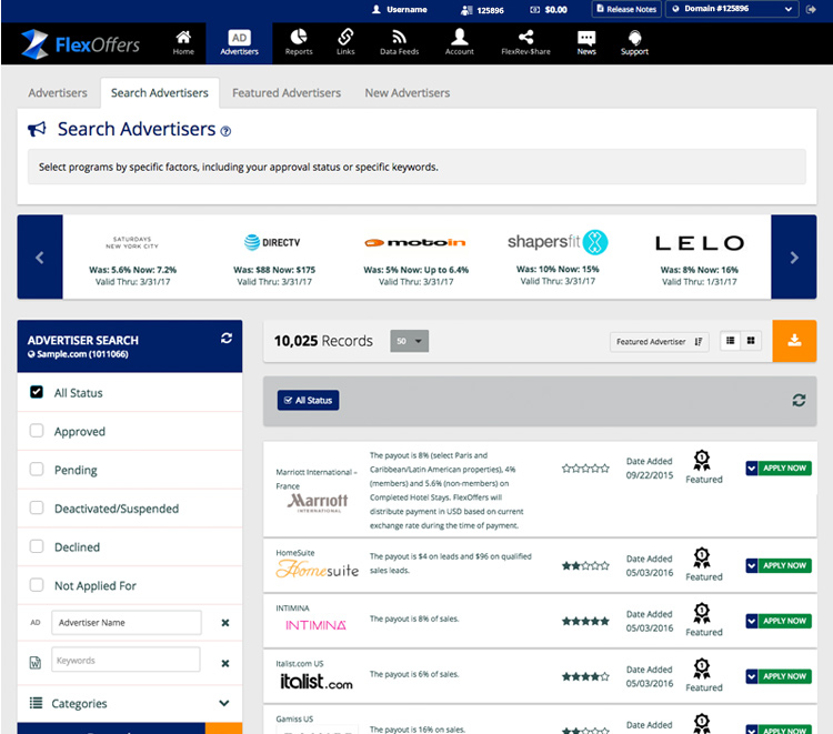 SEARCH ADVERTISERS
