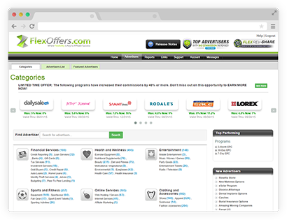 Advertiser Categories Page