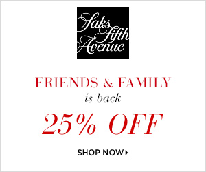 Saks Fifth Avenue Friends & Family Deals
