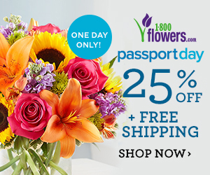 1800flowers.com Passport Day Deals