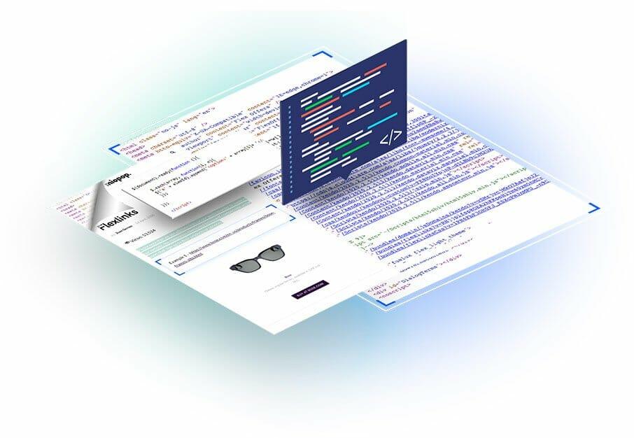 FlexOffers website embed HTML codes page Flexlinks, Affiliate Links, Code