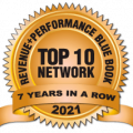 Top 10 Network 7 years in a row 2021 Logo